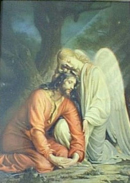 angel comforting jesus